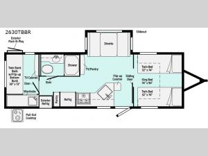 Minnie 2630TBBR Floorplan Image