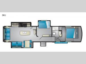 ElkRidge Xtreme Light 361 Floorplan Image