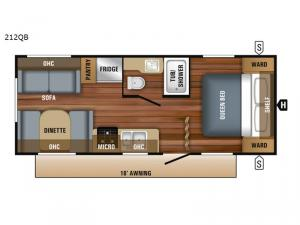 Jay Flight SLX 8 212QB Floorplan Image