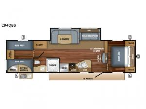 Jay Flight SLX 8 294QBS Floorplan Image