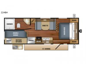 Jay Flight SLX 8 224BH Floorplan Image