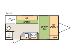 CampLite CL14DB Floorplan Image
