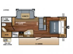 Jay Flight 24RBS Floorplan Image
