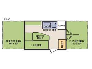 Quicksilver 14XLP Floorplan Image