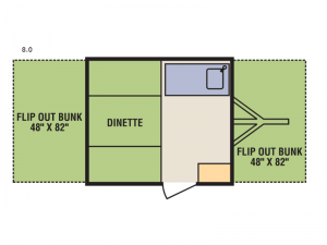 Quicksilver 8.0 Floorplan Image