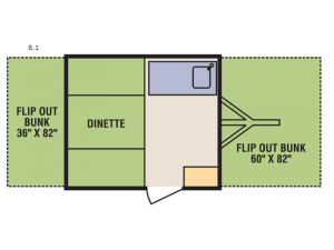 Quicksilver 8.1 Floorplan Image