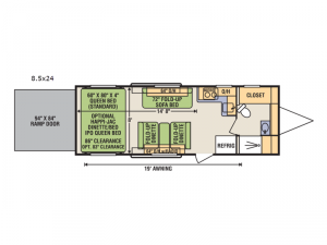 Quicksilver 8.5x24FBA Floorplan Image