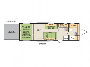Quicksilver 8.5x28FBA Floorplan Image