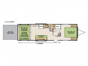 Quicksilver 8.5x30FBR Floorplan Image