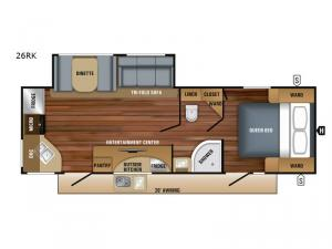 White Hawk 26RK Floorplan Image