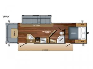 White Hawk 30RD Floorplan Image