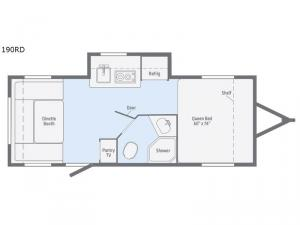 Minnie Drop 190RD Floorplan Image