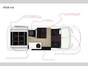 Storyteller Overland Stealth MODE 4x4 Floorplan Image
