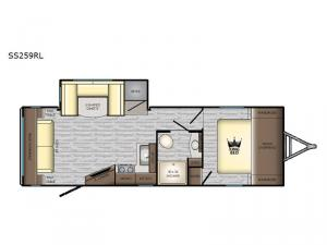 Sunset Trail Super Lite SS259RL Floorplan Image