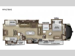 Mesa Ridge MF427BHS Floorplan Image