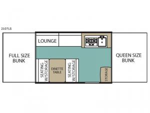 LS Series 2107LS Floorplan Image