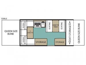 LS Series 2308LS Floorplan Image