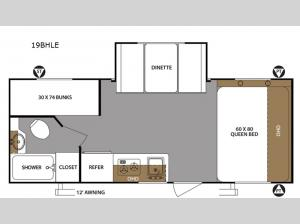 Surveyor 19BHLE Floorplan Image