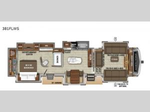 North Point 381FLWS Floorplan Image