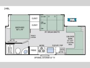 Chateau Sprinter 24BL Floorplan Image