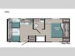 Kingsport Super Lite 19RD Floorplan Image