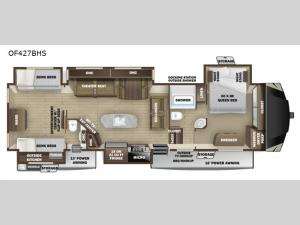 Open Range OF427BHS Floorplan Image