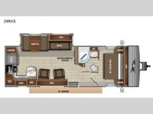 Jay Flight 29RKS Floorplan Image