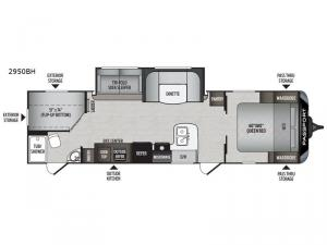 Passport 2950BH GT Series Floorplan Image