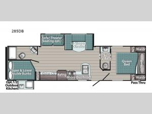 Trailmaster Ultra-Lite 285DB Floorplan Image