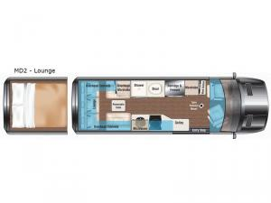 Weekender MD2-Lounge Floorplan Image