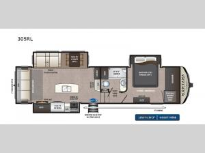 Montana High Country 305RL Floorplan Image