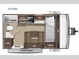 Open Range Conventional OT172FB Floorplan Image