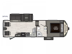 Sprinter Campfire Edition 26FWRL Floorplan Image