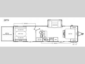 Catalina Trail Blazer 29TH Floorplan Image