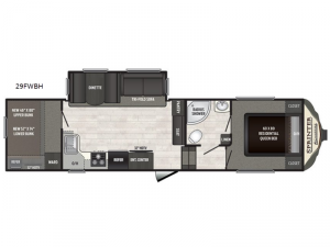 Sprinter Campfire Edition 29FWBH Floorplan Image