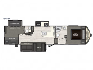 Sprinter Campfire Edition 32FWBH Floorplan Image