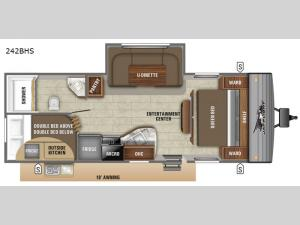 Jay Flight SLX 8 242BHS Floorplan Image