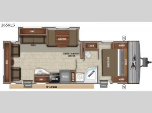 Jay Flight SLX 8 265RLS Floorplan Image