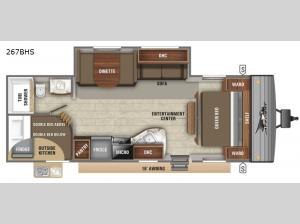 Jay Flight SLX 8 267BHS Floorplan Image