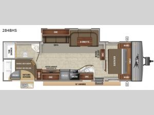 Jay Flight SLX 8 284BHS Floorplan Image