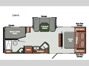 Northern Express Limited Edition Series 25BHS Floorplan Image