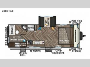 Sportsmen LE 231BHKLE Floorplan Image