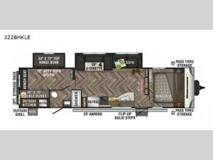 Sportsmen LE 322BHKLE Floorplan Image