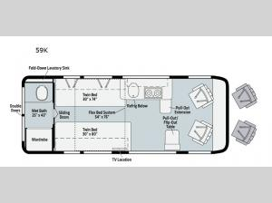 Travato 59K Floorplan Image