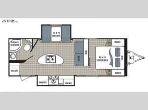 Kodiak Ultra Lite 253RBSL Floorplan Image