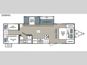 Kodiak Ultra Lite 283BHSL Floorplan Image