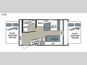 Kodiak Ultra Lite 172E Floorplan Image