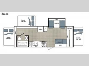 Kodiak Ultra Lite 222ES Floorplan Image