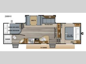 Eagle HTX 26BHX Floorplan Image