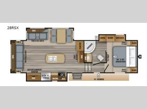 Eagle HTX 28RSX Floorplan Image